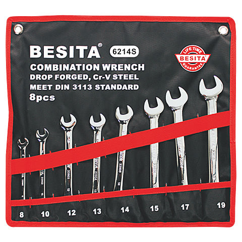 BESITA 6214S 8 PCS LONG COMBINATION WRENCHES
