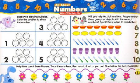 All About Numbers Wipe-Off Activity Mat! (Blue's Clues)