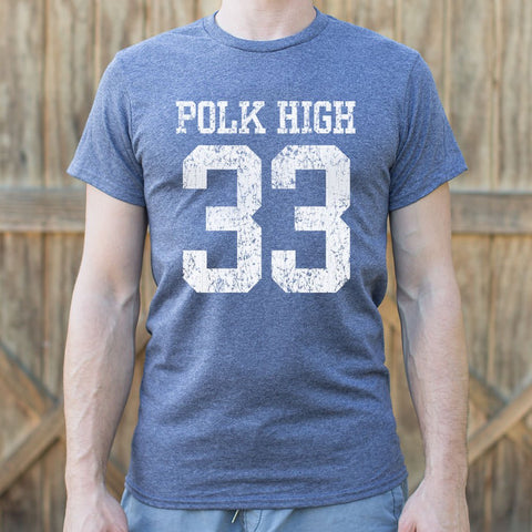 Polk High Number 33 Football T-Shirt (Mens)
