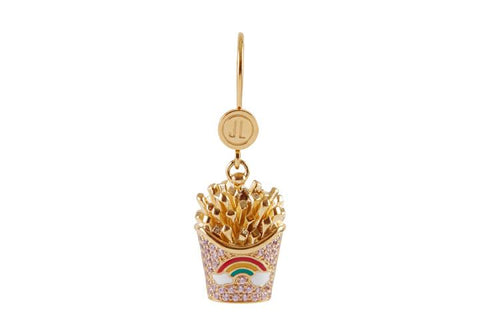 French Fries Rainbow Lever Earring