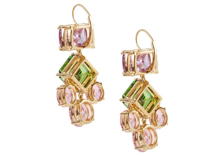 Gem Multi-Color Chandelier Earrings