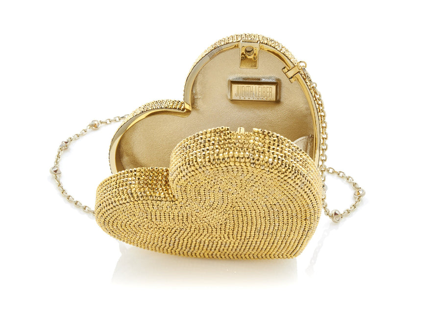 Heart Clutch Gold