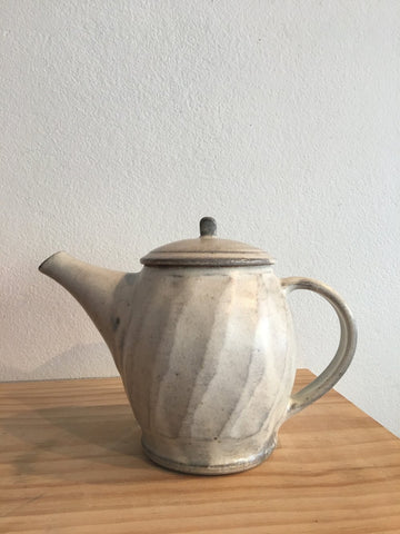 Japanese Off White Teapot