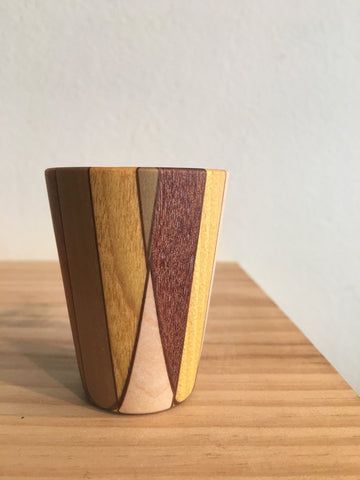Harlequin Wooden Cup