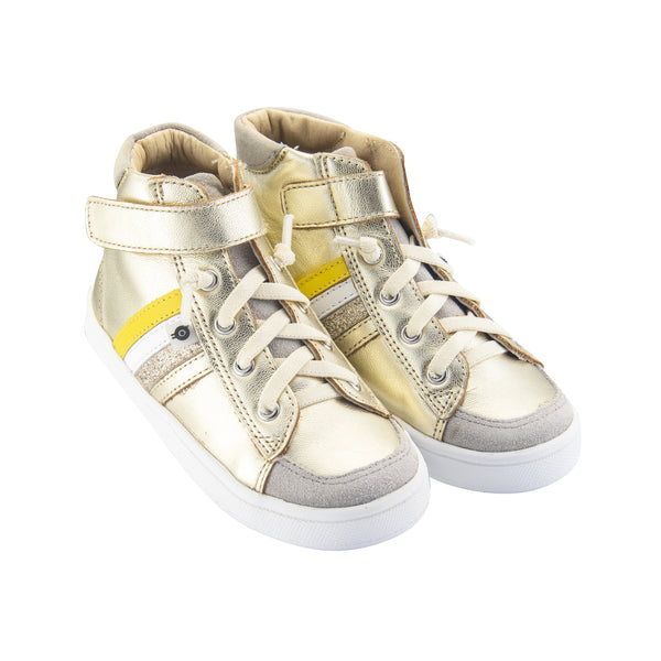 High-Top RB Gold w/ Stripes