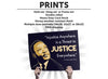 MLK Justice Protest Sign or Poster - Free Shipping!