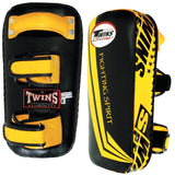 Twins Special Fighting Spirit Muay Thai Pads w/ Velcro- Black-Yellow