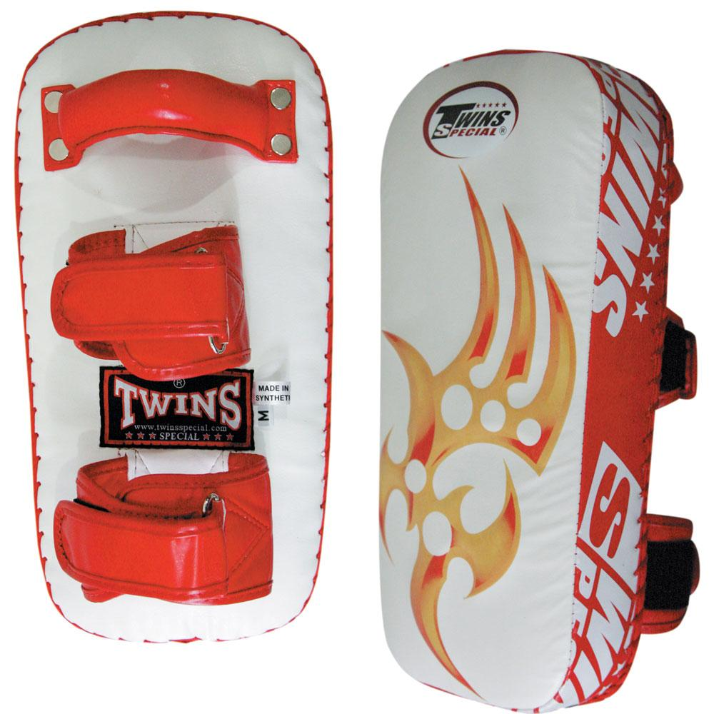 Twins Special Razor Thai Pads w/ Velcro- White-Red