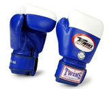 Twins Boxing Gloves - Blue - Premium Leather- Amateur International Competition