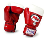 Twins Boxing Gloves - Red - Premium Leather- Amateur International Competition