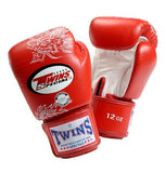 Twins Dragon Boxing Gloves- Red White - Premium Leather