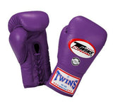 Twins Boxing Gloves - Purple - Premium Leather w/ Laceup