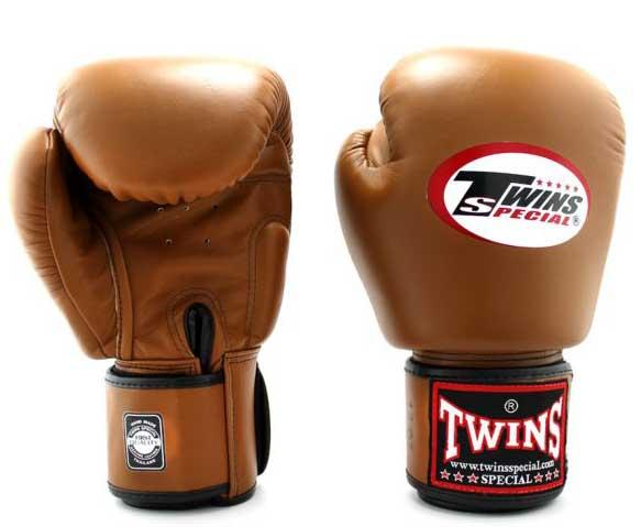 Brown Twins Boxing Gloves - Velcro Wrist