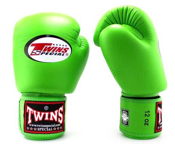 Green Twins Boxing Gloves - Velcro Wrist