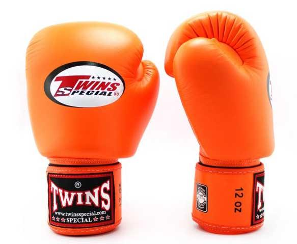 Orange Twins Boxing Gloves - Velcro Wrist