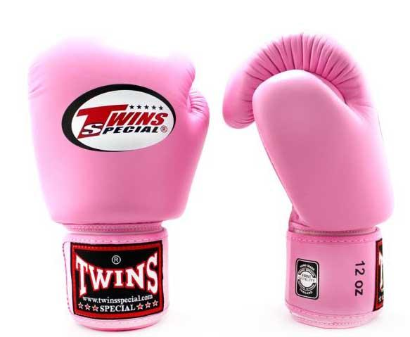 Pink Twins Boxing Gloves - Velcro Wrist