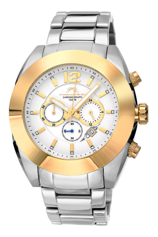 Porsamo Bleu Pascal luxury chronograph men's stainless steel watch, silver, gold 261BPAS