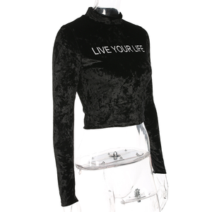 """LIVE YOUR LIFE"" TURTLENECK"