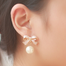 "Load image into Gallery viewer, ""DARLING BOWKNOT"" EARRINGS"