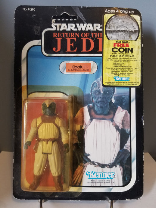 1983 Star Wars Return of the Jedi Carded Klaatu in Skiff Guard Outfit with Punch