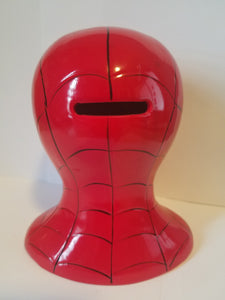 Marvel Spiderman Head Ceramic Coin Bank