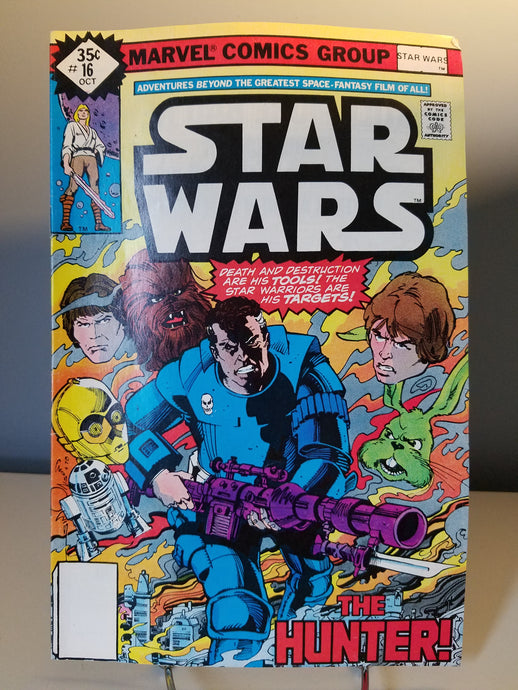 1978 Star Wars Marvel Comic Book #16 The Hunter