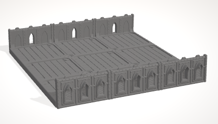6mm 3x3 Gothic With 2 Side Barricades