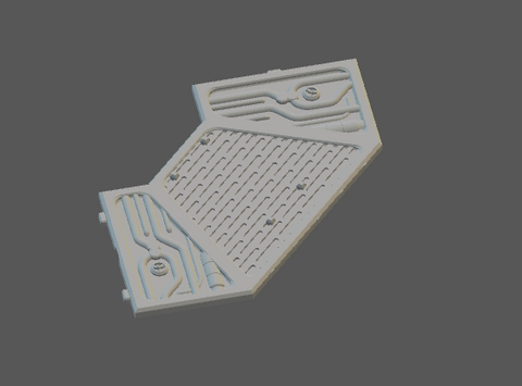 Octagon Platform Alt Angle-[40KTerrain]-[Fantasyterrain]-[3DPrintedTerrain]-[Wargaming]-[Tabletopgaming]-OTP Terrain Off The Print Gaming