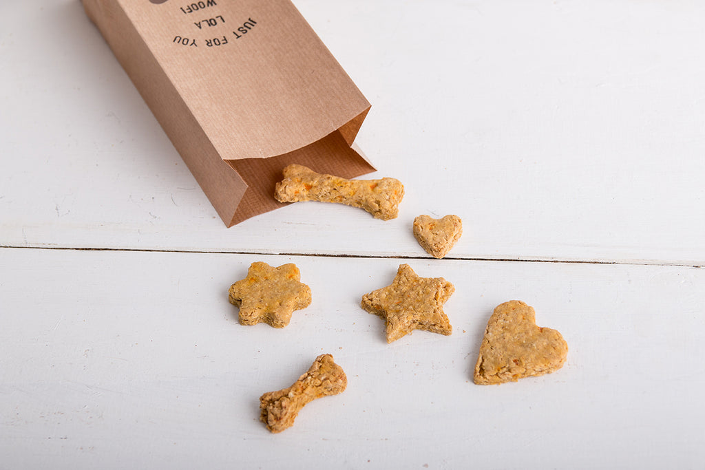 Just for You Dog Treats in a Personalised Bag