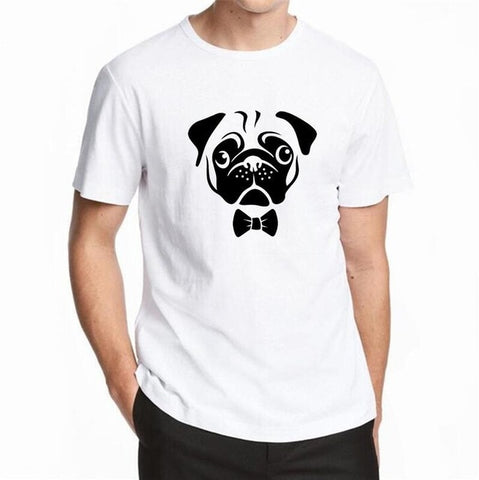 Cool New T Shirts Men The Adventure Dog Top Tees Pug Life Print Men T-shirt O Neck Cotton Short Sleeve Cool Summer Tops