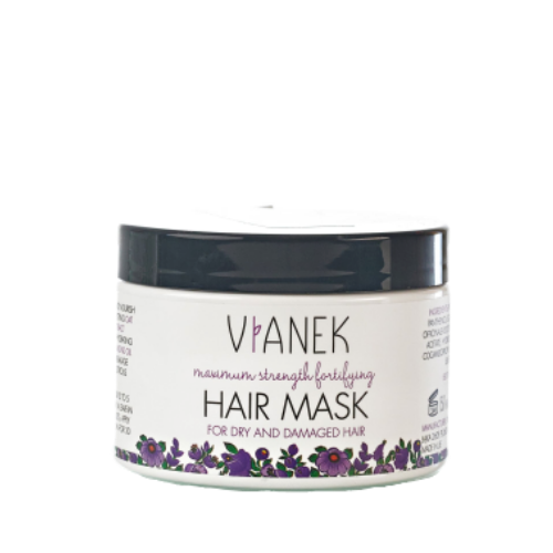 Maximum Strength Fortifying Mask for Dry and Damaged Hair with Comfrey Extract, Conditioners, Vianek, Nat-ul
