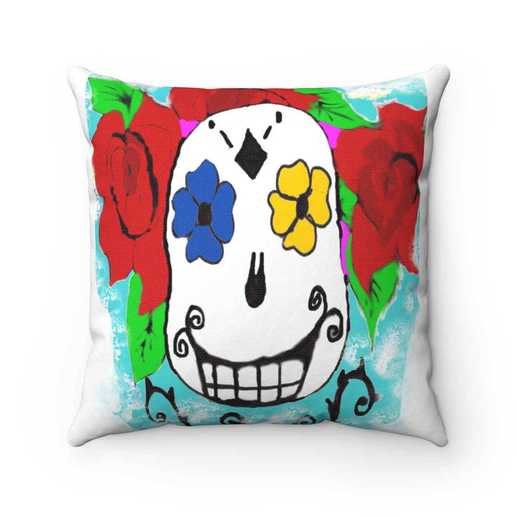 Smile You're Dead Square Pillow