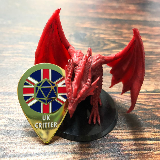 UK Critter Enamel Pin Badge - Perfect for UK fans of Critical Role!