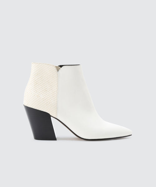 ADEN BOOTIES IN WHITE -   Dolce Vita