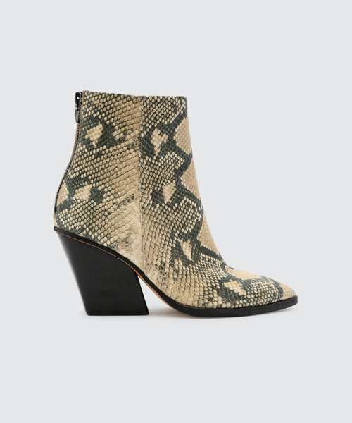 ISSA BOOTIES IN SNAKE -   Dolce Vita