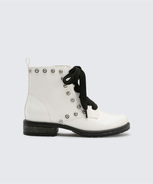 LANDYN BOOTIES IN WHITE -   Dolce Vita