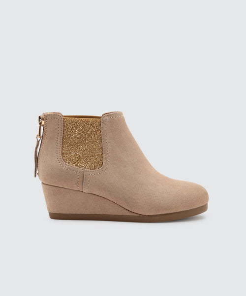 PIERO BOOTIES IN ALMOND -   Dolce Vita