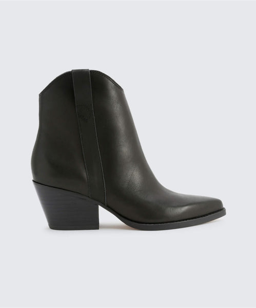 SERRA BOOTIES IN BLACK -   Dolce Vita