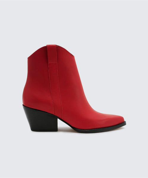 SERRA BOOTIES IN RED -   Dolce Vita