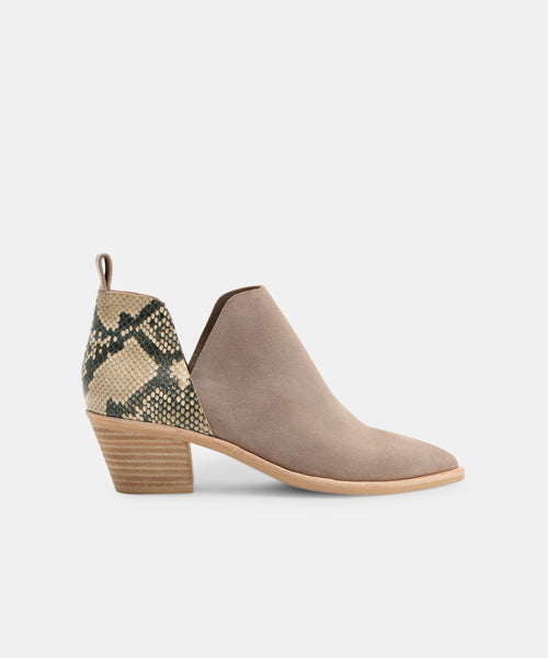 SONNI BOOTIES IN TAUPE SNAKE -   Dolce Vita
