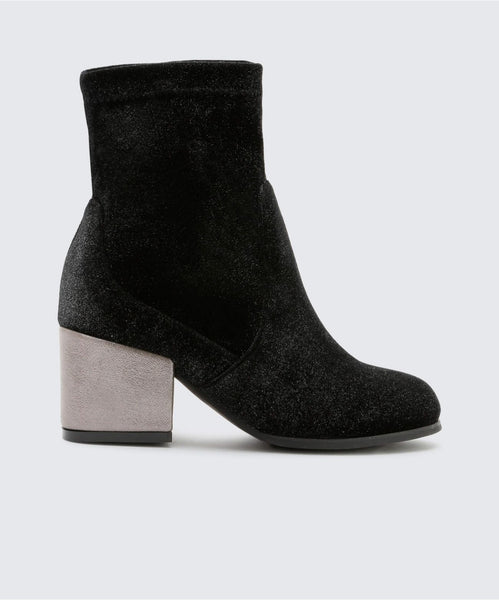 BARLOW BOOTIES IN PEWTER -   Dolce Vita