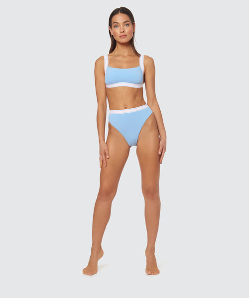 FAST LANE HIGH WAIST JOGGER BOTTOM IN BLUE -   Dolce Vita