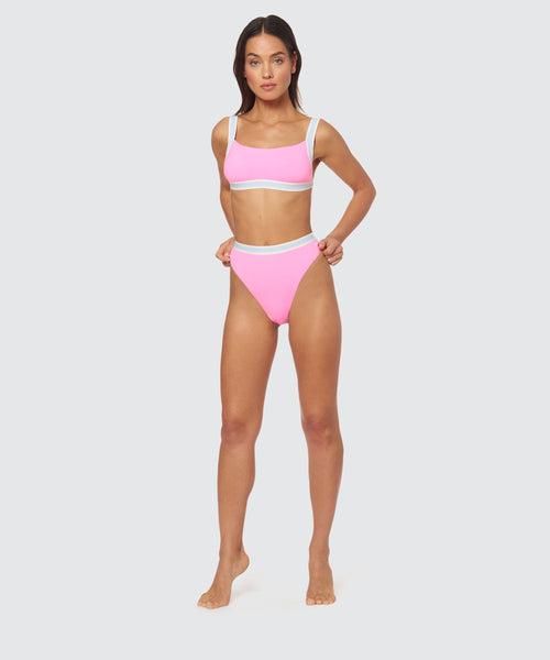 FAST LANE HIGH WAIST JOGGER BOTTOM IN HOT PINK -   Dolce Vita