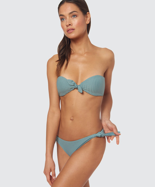 DAY GLOW TIE SIDE BOTTOM IN AGAVE -   Dolce Vita