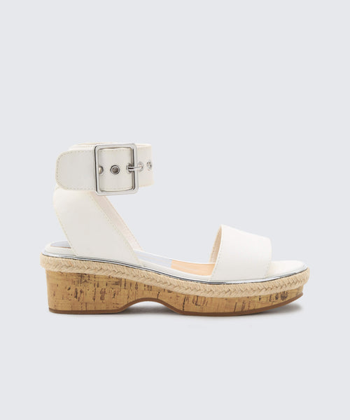 ADRIEL WEDGES IN WHITE -   Dolce Vita