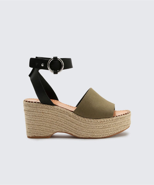 LESLY WEDGES IN OLIVE -   Dolce Vita