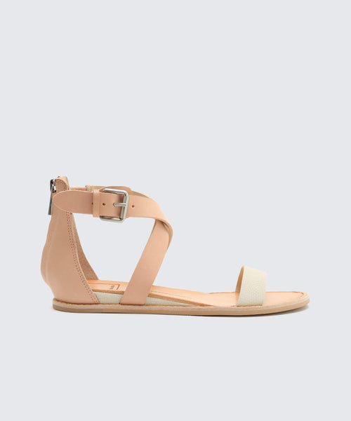 NOLEN SANDALS IN WHITE -   Dolce Vita