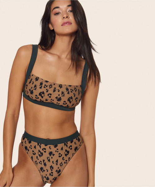 SPOTTED BOXER TOP IN LEOPARD -   Dolce Vita