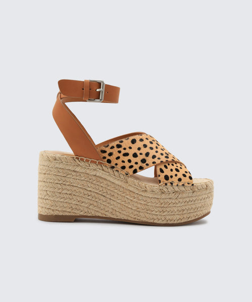 CARSIE WEDGES IN LEOPARD -   Dolce Vita