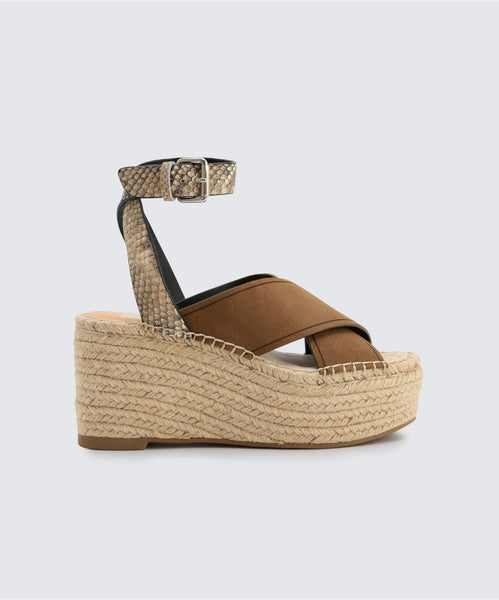 CARSIE WEDGES IN OLIVE -   Dolce Vita
